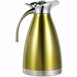 1.5L/2L Coffee Tea Pot Stainless Steel Double Wall Vacuum In