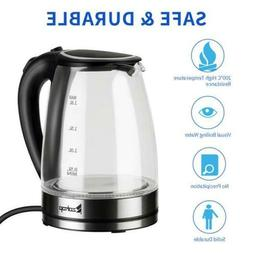 1.8L Electric Kettle Stainless Coffee Hot Water Boiler Warm