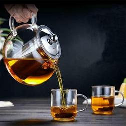 950ml/32oz Glass Teapot with Infuser Stovetop Safe Loose Lea