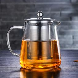 950ml/32oz Glass Teapot with Infuser Tea Stovetop Safe kettl
