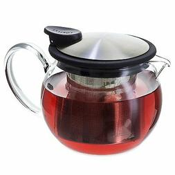 FORLIFE Bola Glass Teapot with Basket Infuser, 15-Ounce/444m