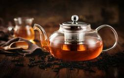 Hiware Good Glass Teapot with Stainless Steel Infuser & Lid,