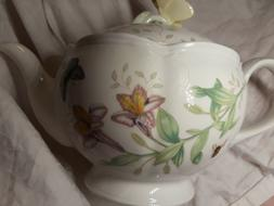Lenox Butterfly Meadow Teapot with Lid New