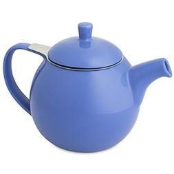 FORLIFE Curve Teapot with Infuser, 24-Ounce, Blue