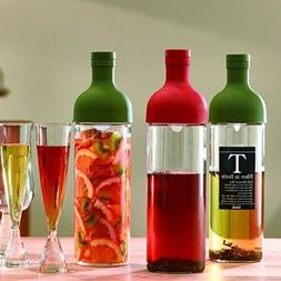 Hario Glass Filter in Bottle Drink Infuser and Server Green
