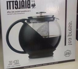 Bialetti Glass Tea Pot- Press With Plastic Handle For Loose