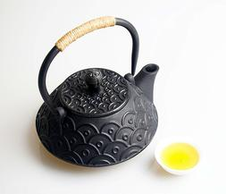 Healthy Cast Iron Teapot with Infuser for Loose Tea Fish Sca