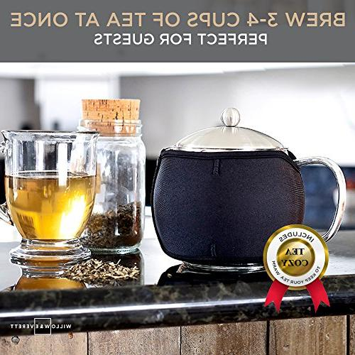 Teapot Kettle with Tea Glass Tea Infusers Holds Cups Loose Leaf Iced Blooming Flowering Tea Filter- Kettles Tea