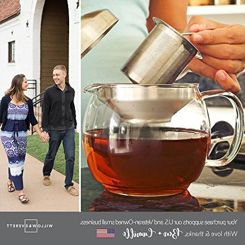 Teapot - Pot and Tea Infuser Glass Tea Infusers Holds Cups Flowering Filter- Teapots Kettles Tea