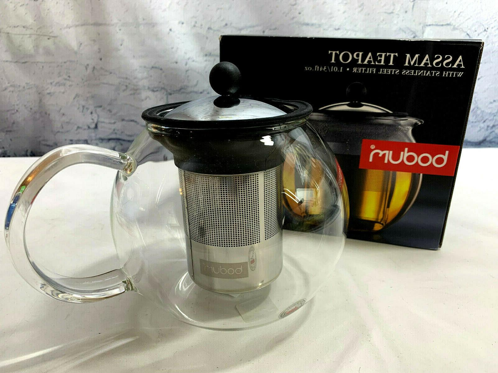 assam shiny tea pot with stainless steel