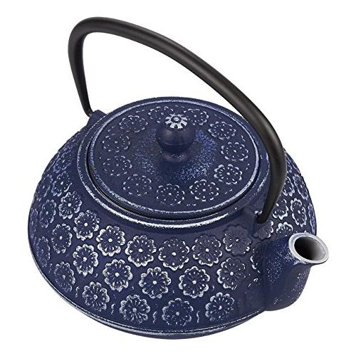 Blue Floral Teapot Kettle with Stainless