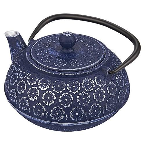 Blue Teapot with Steel Infuser
