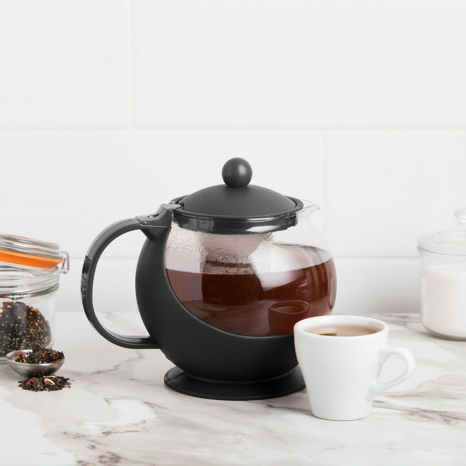choice teapot with infuser 25 oz glass