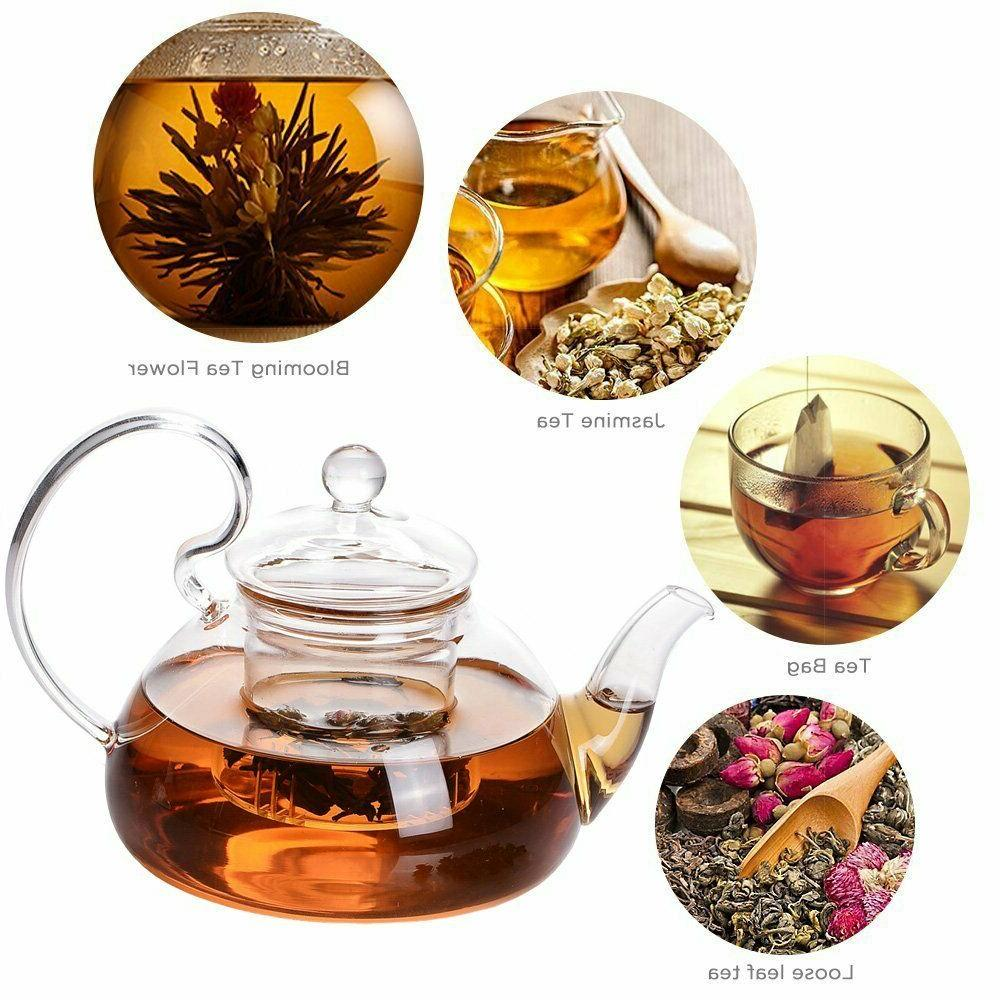 Glass Tea Pot Loose Leaf Tea with Teapot with Strainer
