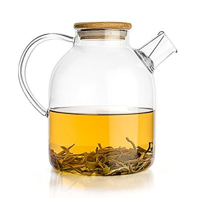 glass teapot stove top kettle 60 ounce