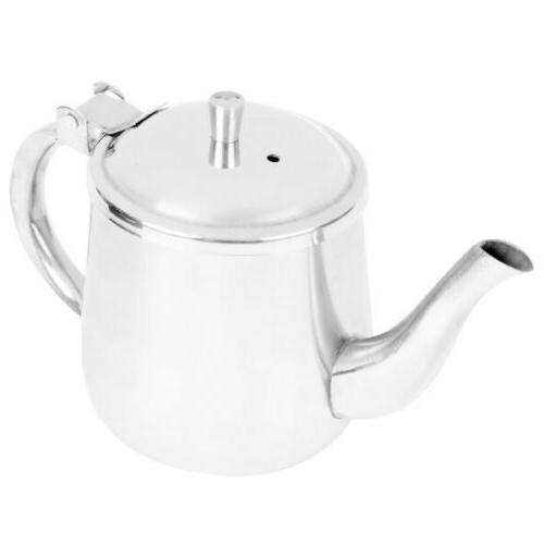 Teapot Coffee Pot Kettle Metal Stainless Steel Creamer Serve