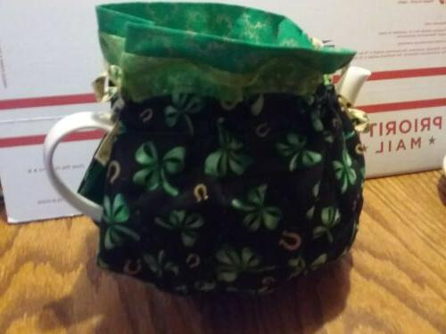 handmade quilted tea pot cozy with a