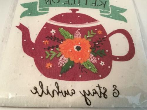 Teapot Dish Towel By In PKG 18