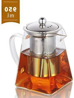 NEW Glass Teapot with Infuser, 950ml/32oz Clear High Borosil