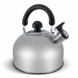 ELITRA Stainless Steel Whistling Kettle Tea Pot with Handle