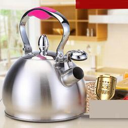 Stainless Steel Whistling Tea Kettle Tea Pot Stovetop Induct