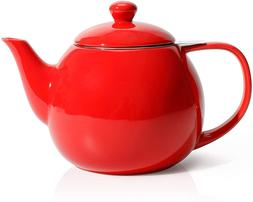 Teapot ,Porcelain Tea Pot with Stainless Steel Infuser, 27 o