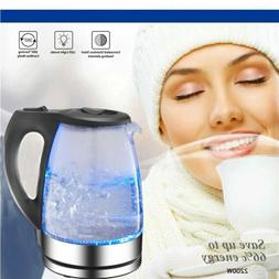 USA Electric Glass Kettle Coffee Hot Water Maker Cordless Te